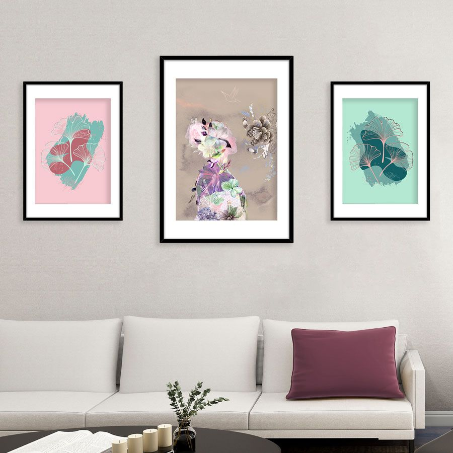 Continuing our Japanese inspiration today with a pretty kimono, ginkgo leaves and calming, pastel colours. Adding serene art prints in calm colours helps create a light, airy feel to spaces where you want to relax. Pastel greens and soft pinks are restful and quiet, perfect for a stress-free zone. Who doesn't need one of those at the moment! #gallerywall #japanese #artprints #decoration #japan #artwork #wallartprints #wallartdecor #interiorart #artprintgallery #braveground #buyartonline