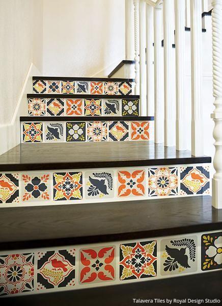 Talavera tiles wall furniture stencils wallpaper and for Casa mexicana muebles