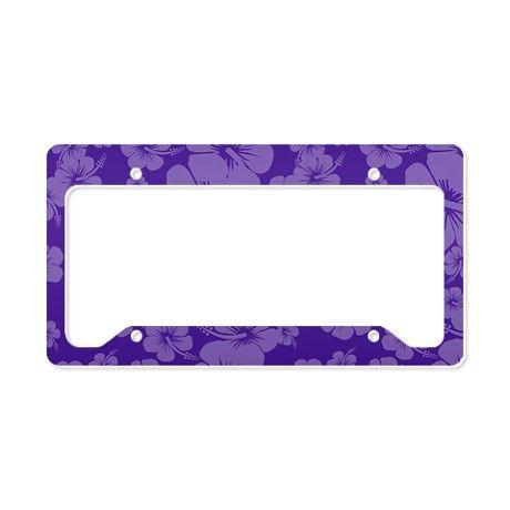 Purple Hawaiian Hibiscus - License Plate Holder | Pinterest | Plate ...