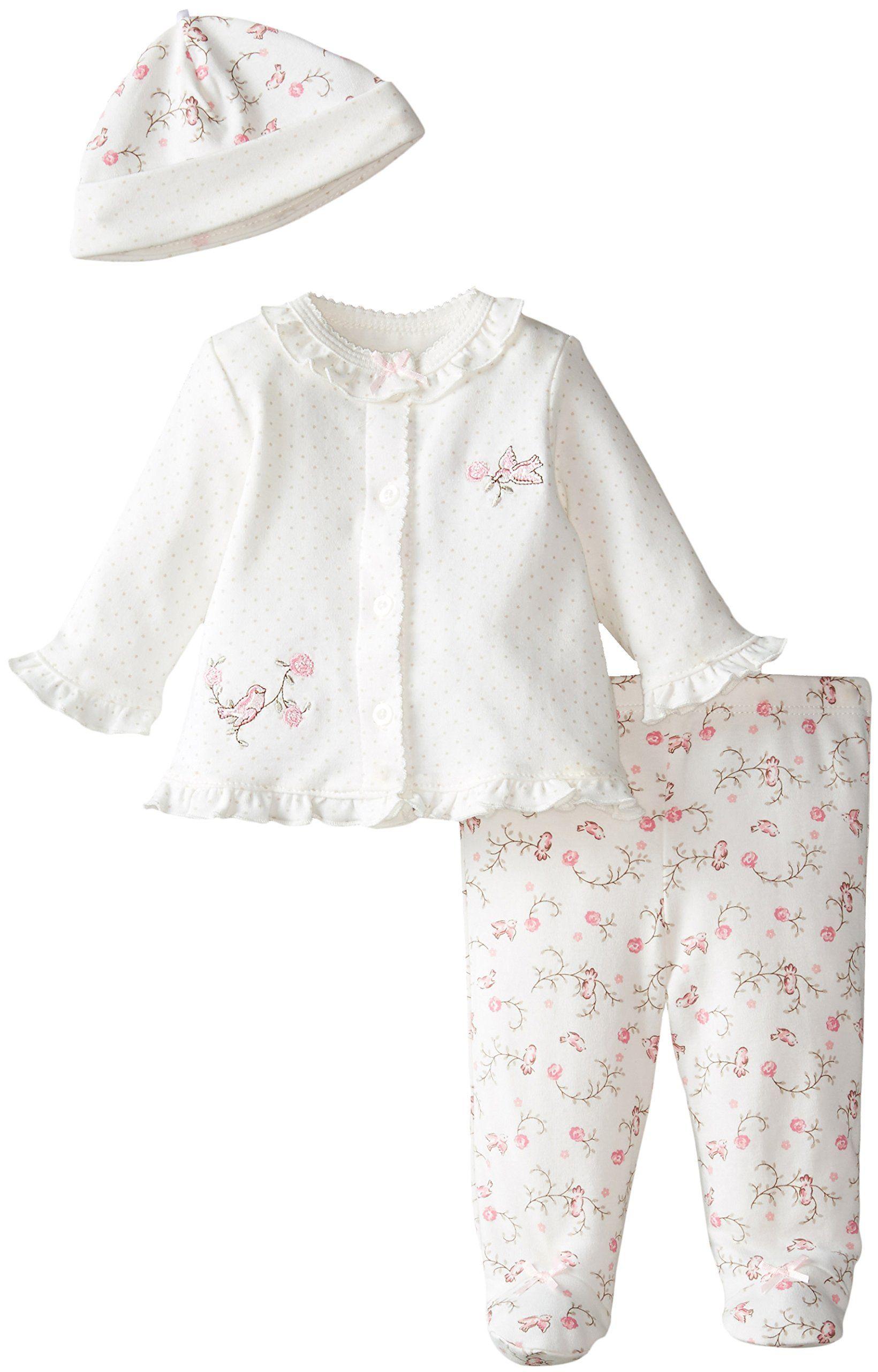 747dfea16 Amazon.com  Little Me Baby-Girls Newborn Lovebirds Take Me Home Set ...