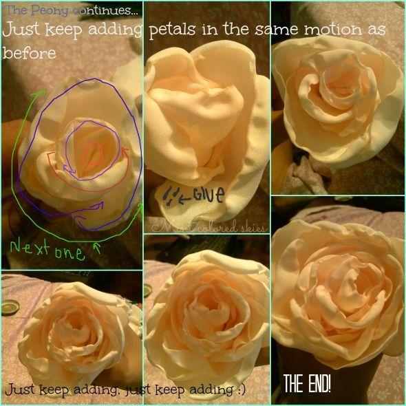 DIY Fabric flower bouquet : wedding bouquet diy fabric flowers ivory ...