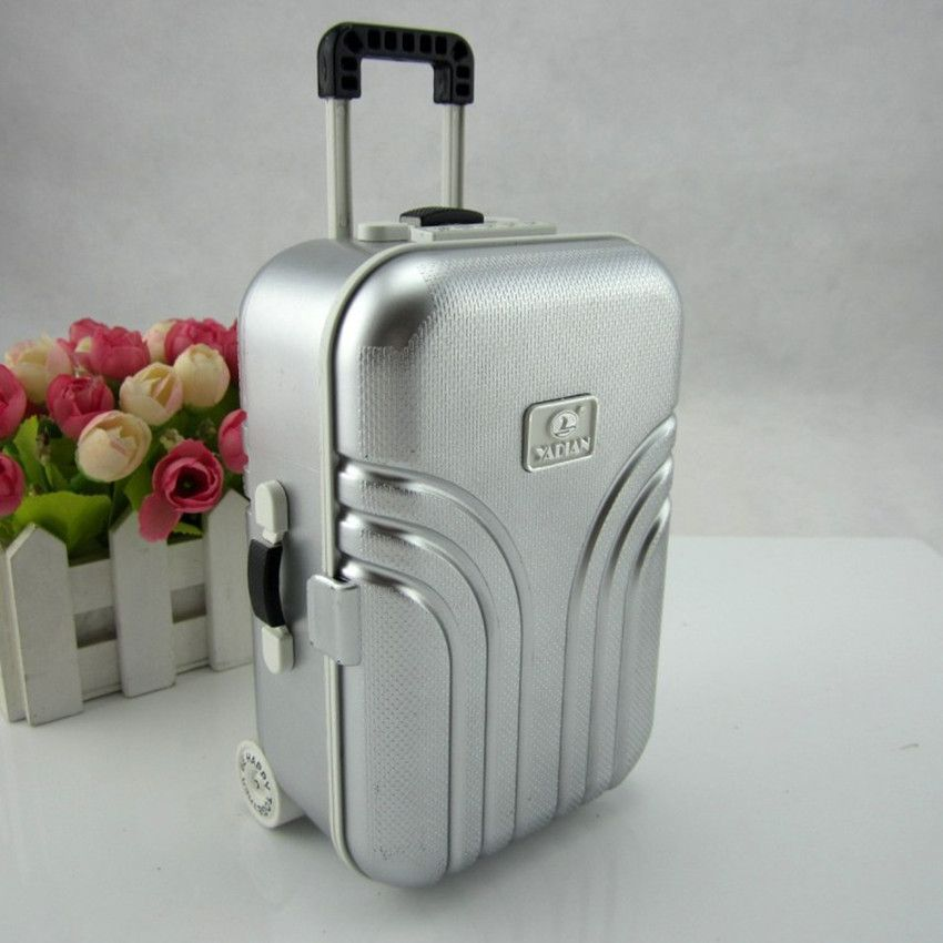 Candy Color Jewelry Storage Box Luggage Trolley Style Music Musical Box Birthday Gift