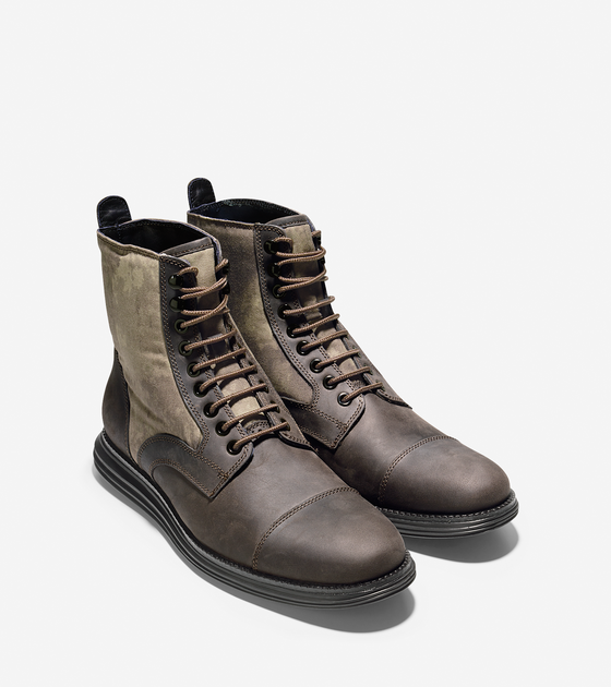 Cole Haan Waterproof LunarGrand Lace Boot in Wren/Camo. Though I like them  better