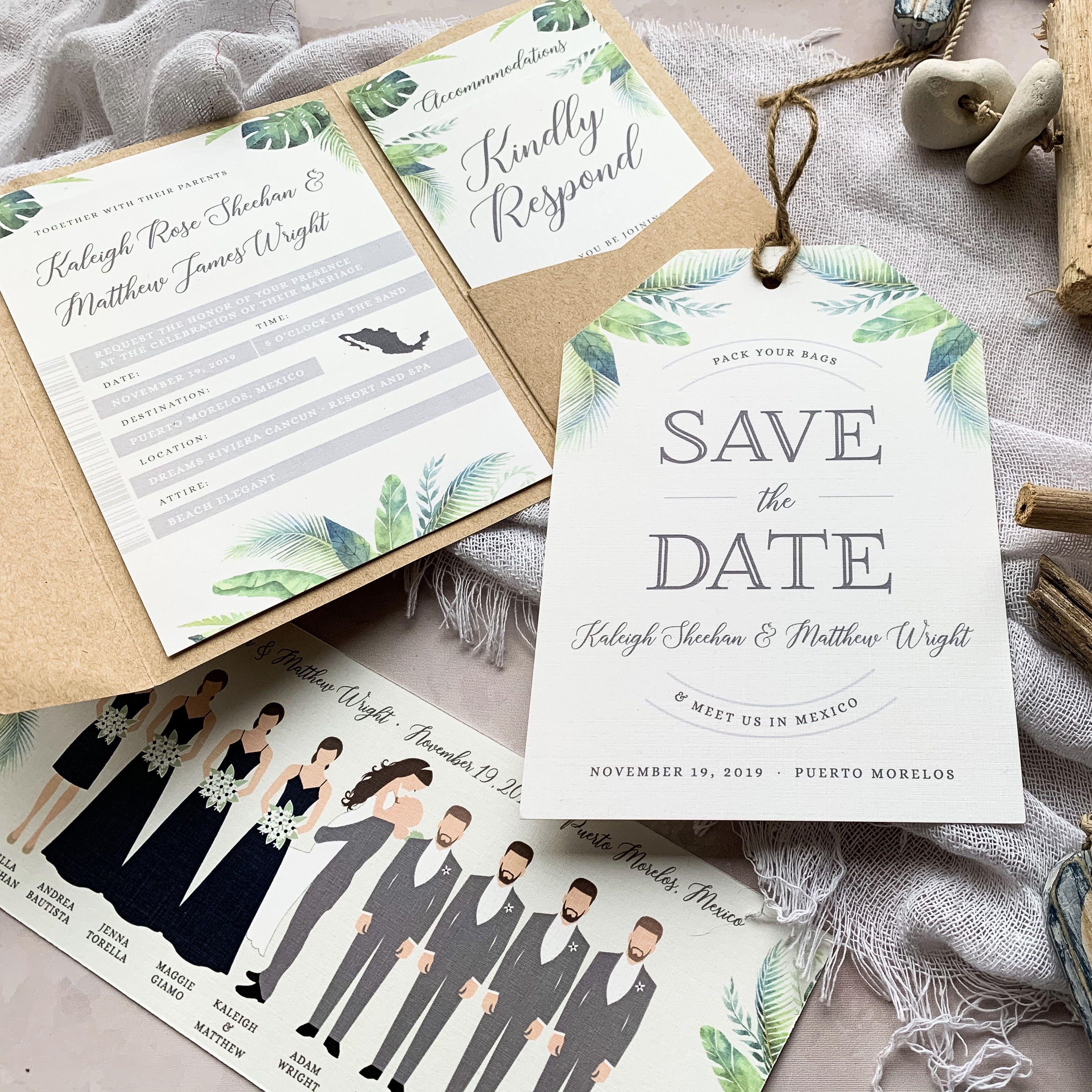 Destination Wedding Boarding Pass Invitations in 2020