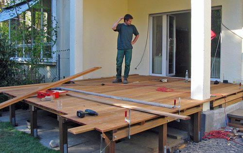 Terrassenerweiterung Terrasse Terrasse Bauen Holz