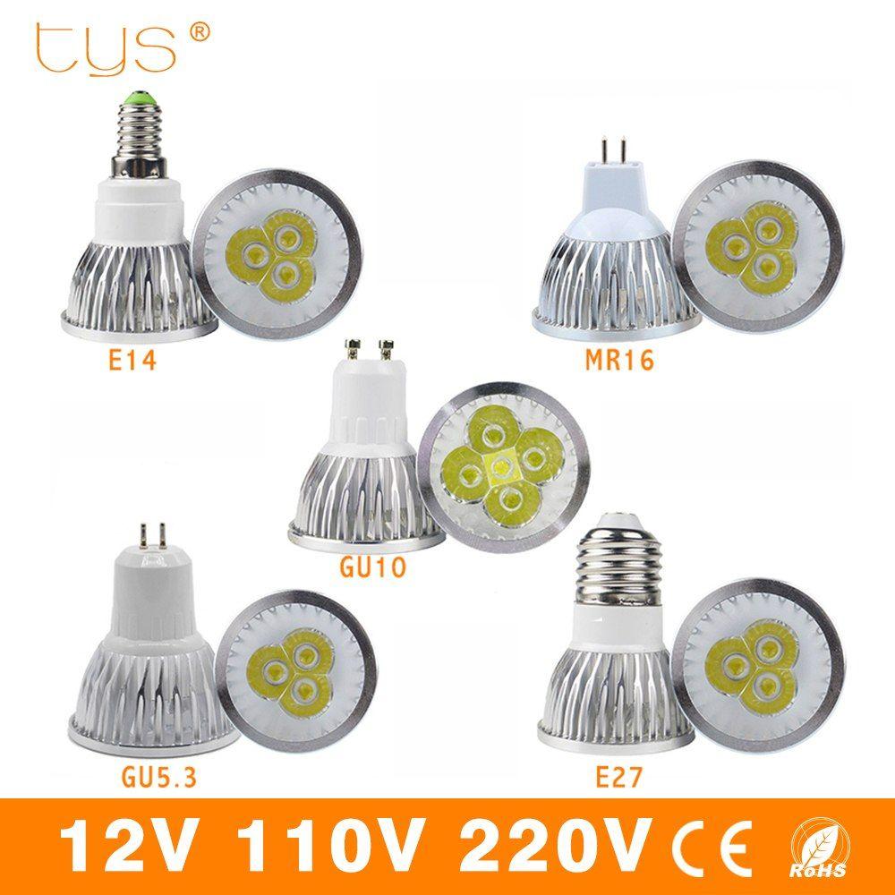 High Bright Lampada LED Lamp E27 E14 GU10 GU5.3 MR16