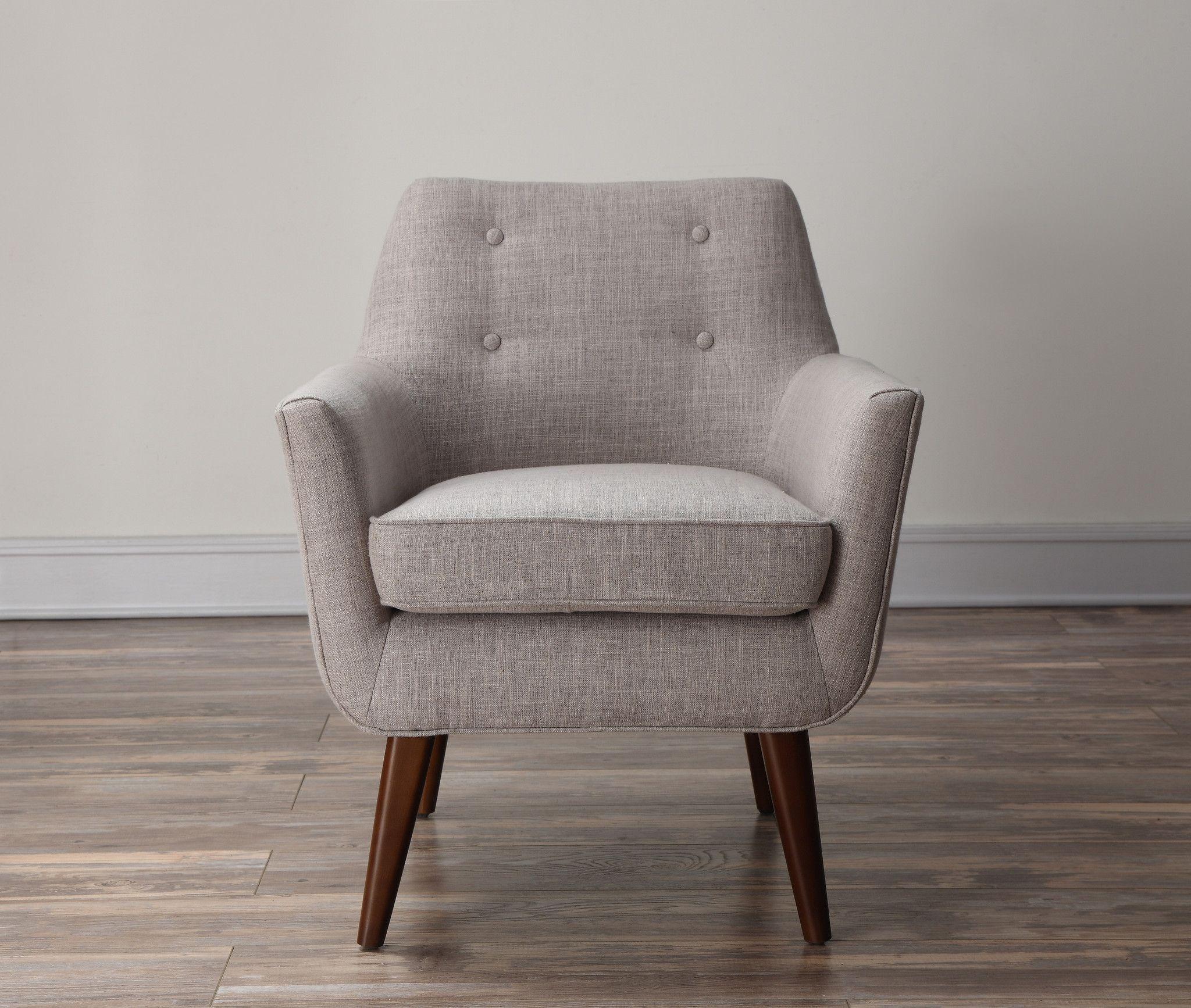 Tov Furniture Modern Clyde Beige Linen Chair Tov A38 B