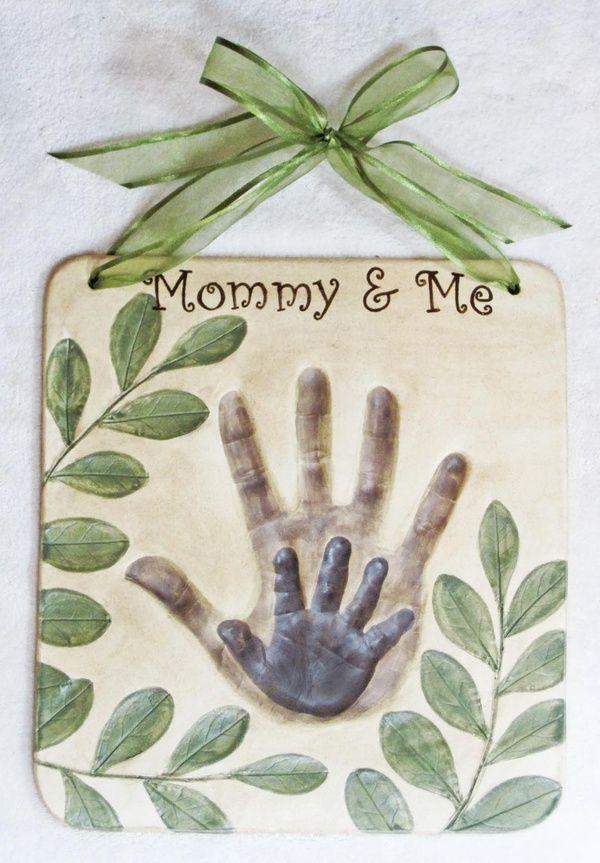 Salt Dough Craft Ideas For Kids Part - 23: Salt Dough Handprint Tile... Mom-s-craft-home-improvement
