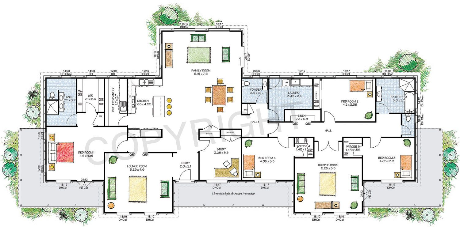 The Derwent Floor Plan Download A Pdf Here Paal Kit Homes Offer Easy To Build Steel Frame Kit Homes For The Owner Bu Free House Plans Kit Homes Floor Plans