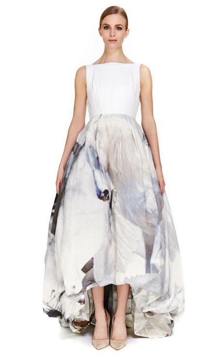 Leather and Pegasus Gown by Giles Now Available on Moda Operandi