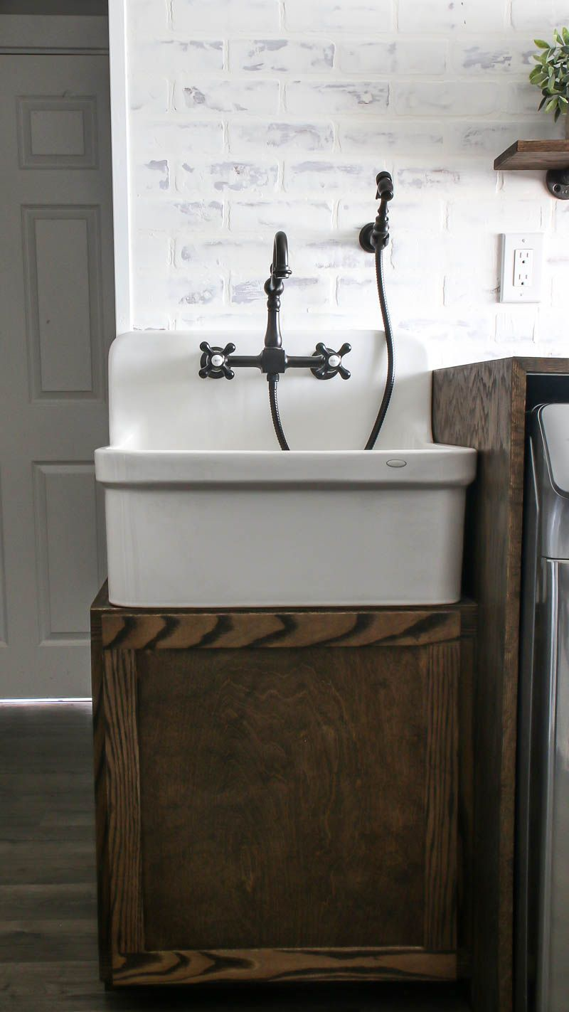 Diy farmhouse sink for laundry room in 2020 with