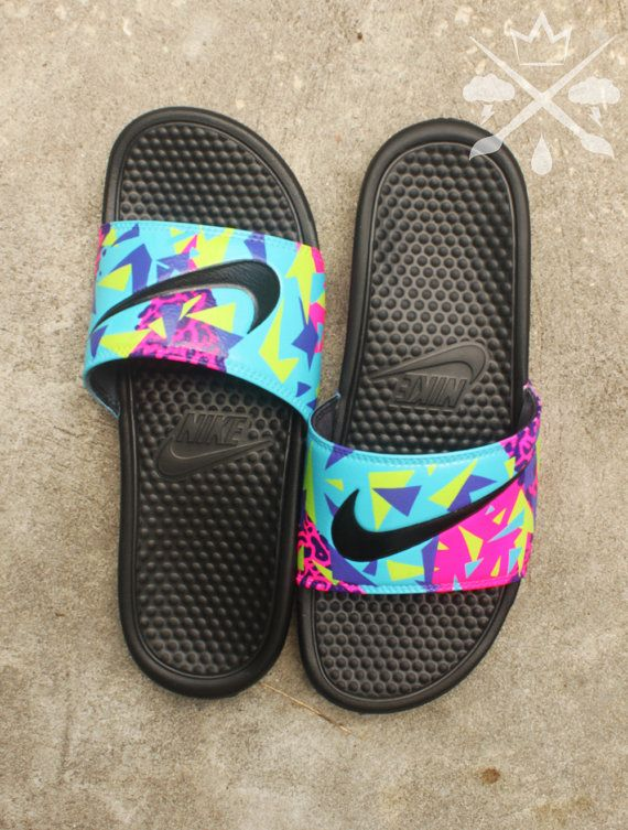 Nike Custom Bel-Air Jordan 5 Fresh Prince Benassi Swoosh Slide Sandals Flip  flops Men's