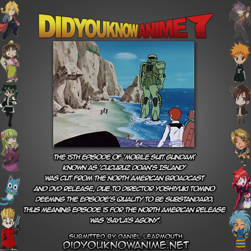 Dyka Mobile Suit Gundam 01 Did You Know Anime Anime Trivia Mobile Suit