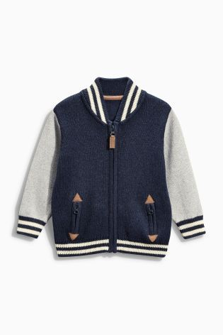 Buy Knitted Baseball Jacket (3mths-6yrs) from the Next UK online ...