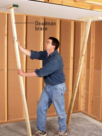 drywall hanging how to hang drywall on a ceiling on dry wall id=87550