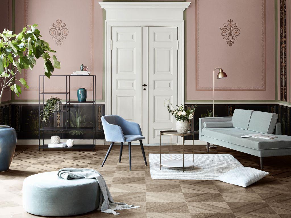 Un salon en gris et rose à la déco chic | Dream Home | Decor ...