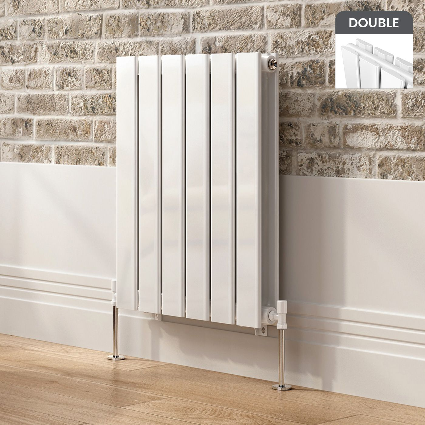Horizontal Flat Panel Radiator in White 600mmx456mm