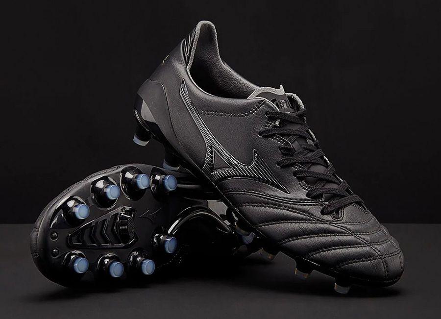 brand new b29dc 89e00  football  soccer  futbol  Mizunofootball Mizuno Morelia Neo II Leather  Made in Japan - Black   Black   Black