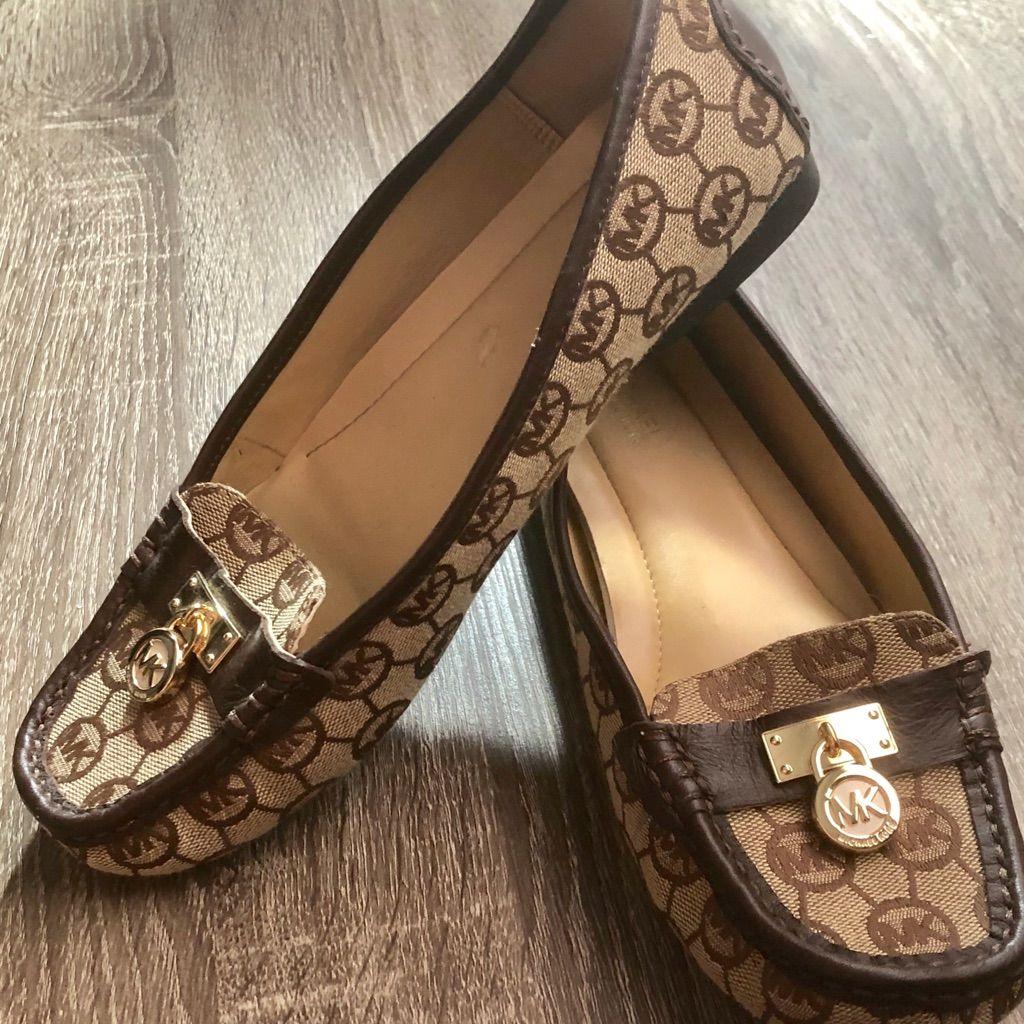Michael Kors Shoes | Michael Kors Hamilton Monogram Loafers | Color: Brown/Tan | Size: 8