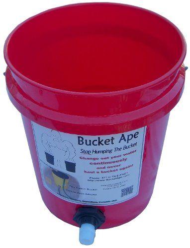 5 Gallon Bucket With Garden Hose Adapter Already Mounted Water Barrel Garden Hose Bucket