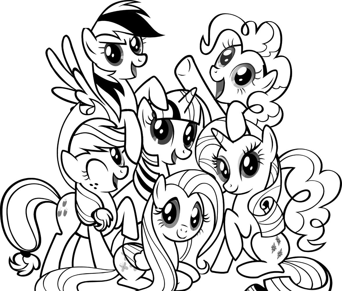 Apple Jack Fluttershy Pinkie Pie Rarity Rainbow Dash Coloring Pages For Girls My Little Pony Coloring Coloring Pages