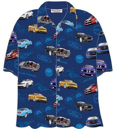 Ford Mustang Shelby GT Cars Hawaiian Camp Shirt