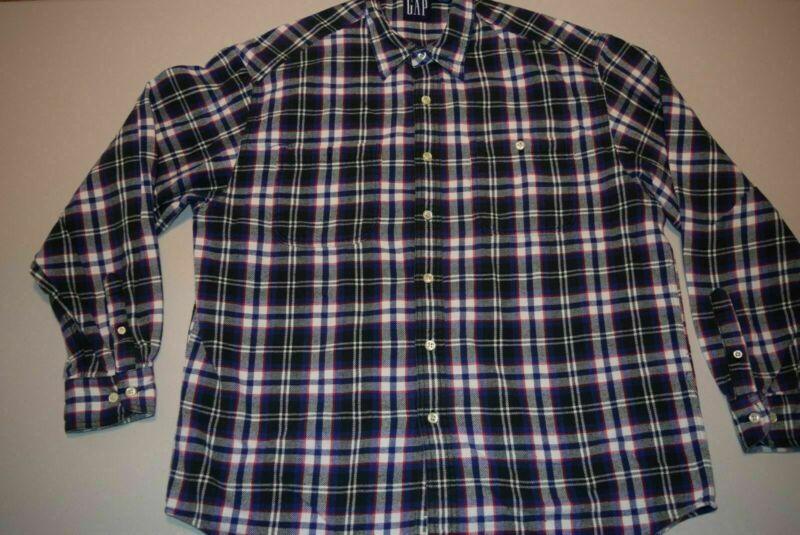 Vtg Gap Button Up 100 Cotton Long Sleeve Work Shirt Plaid Men S Large In 2020 Work Shirts Button Down Shirt Mens Cotton Shirts For Men