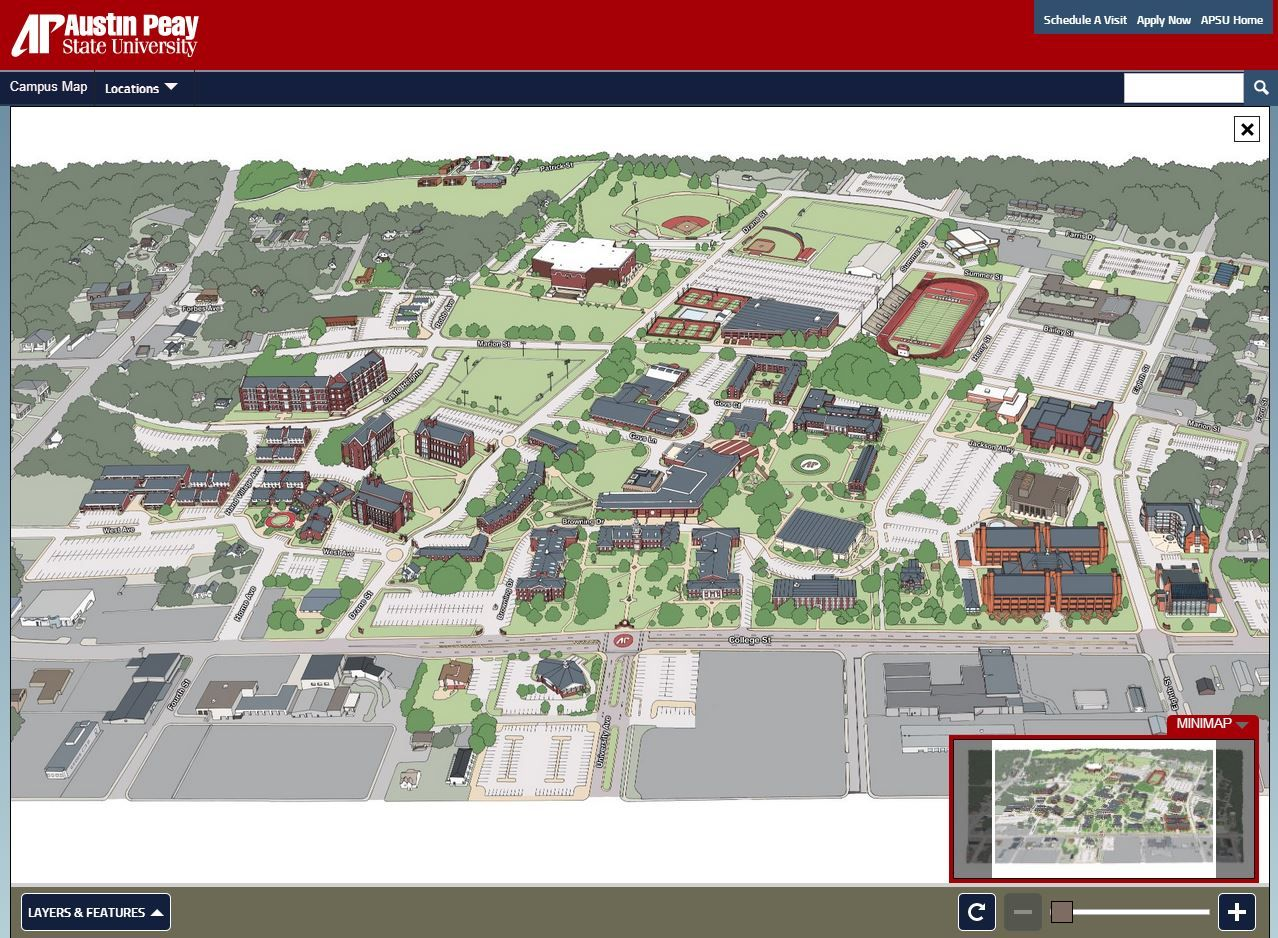 Austin Peay Campus Map | Austin Peay State University Interactive