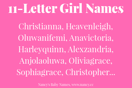 11 Letter Girl Names Names With Meaning Girl Names Name Inspiration