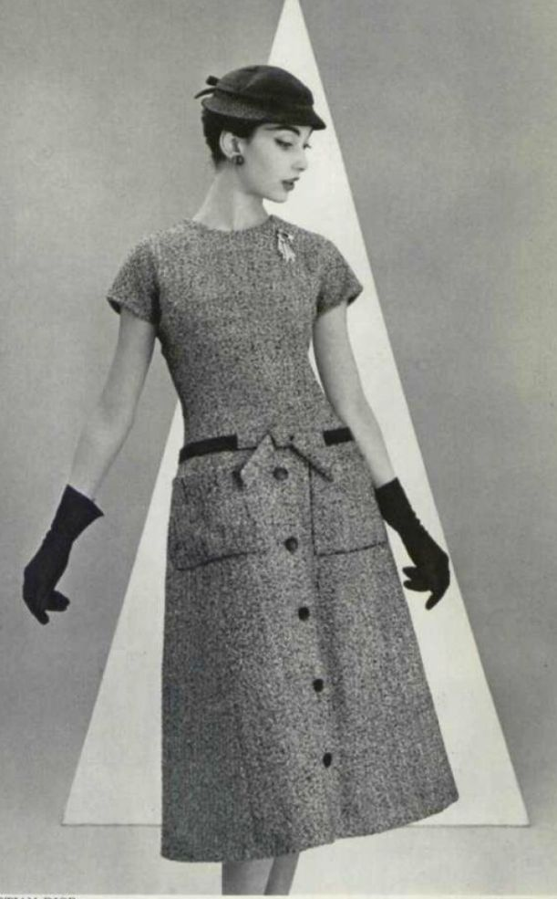 1955 - Christian Dior 'A' line dress | dress | Pinterest | A line ...