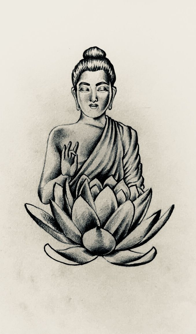 Buddha lotus flower design i sketched up today dvmeler buddha lotus flower design i sketched up today mightylinksfo