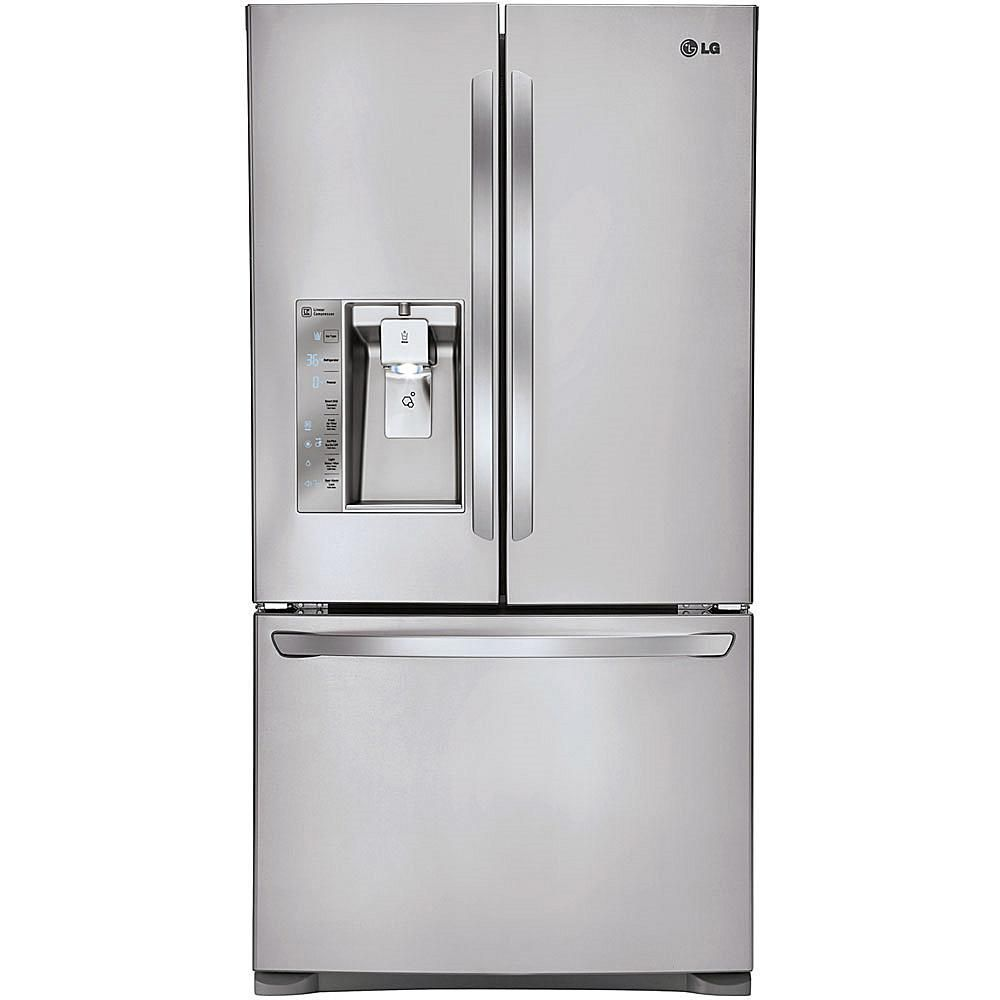 Lg 24 Cu Ft 3 Door French Door Refrigerator With Lg French Door Refrigerator Counter Depth French Door Refrigerator Stainless Steel French Door Refrigerator