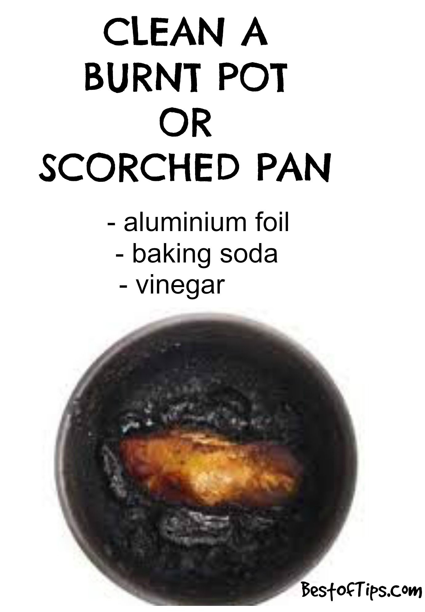 How To Clean A Burnt Pot Or Scorched Pan Clean Burnt
