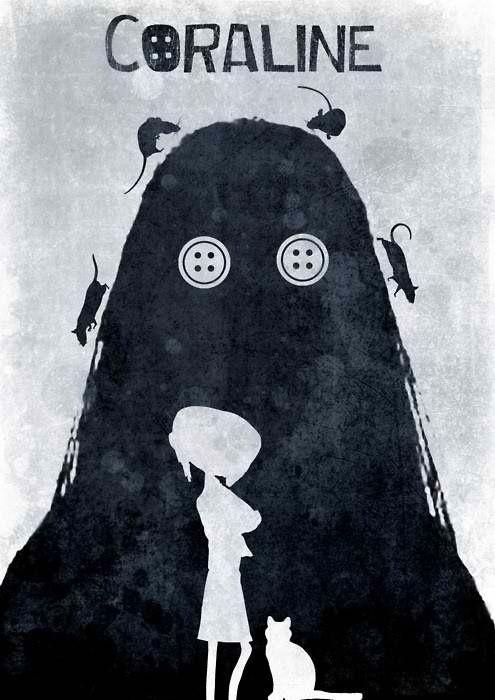 Pin By Sarah Kurz On Mini Bookworm Movie Posters Minimalist Movie Art Coraline