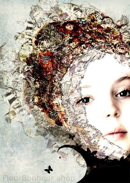 Francesca digital collage/painting by FleurBonheur on Etsy, $19.00