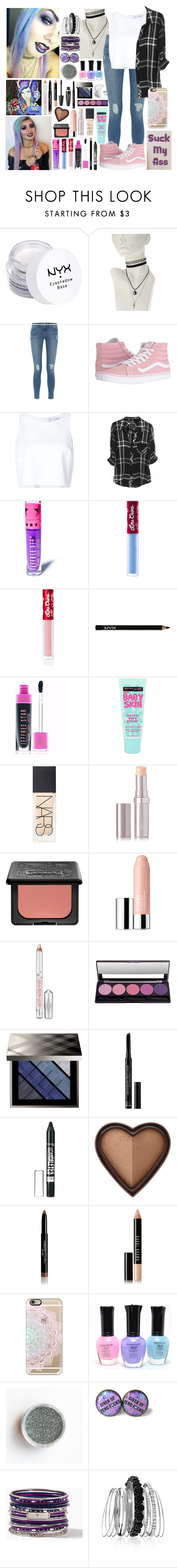 """HeyThereImShannon ~7~"" by i-am-the-one-and-only ❤ liked on Polyvore featuring NYX, Frame, Vans, Carolina Herrera, Rails, Lime Crime, Maybelline, NARS Cosmetics, La Mer and Kat Von D"