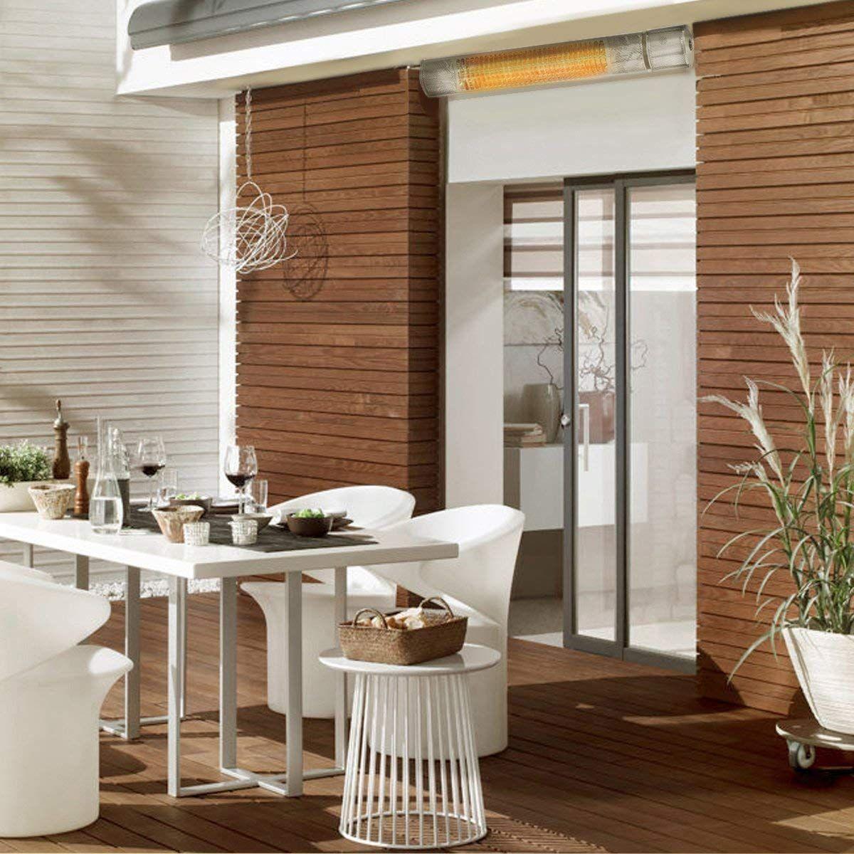 Xtremepowerus watt wall mounted infrared heater indooroutdoor
