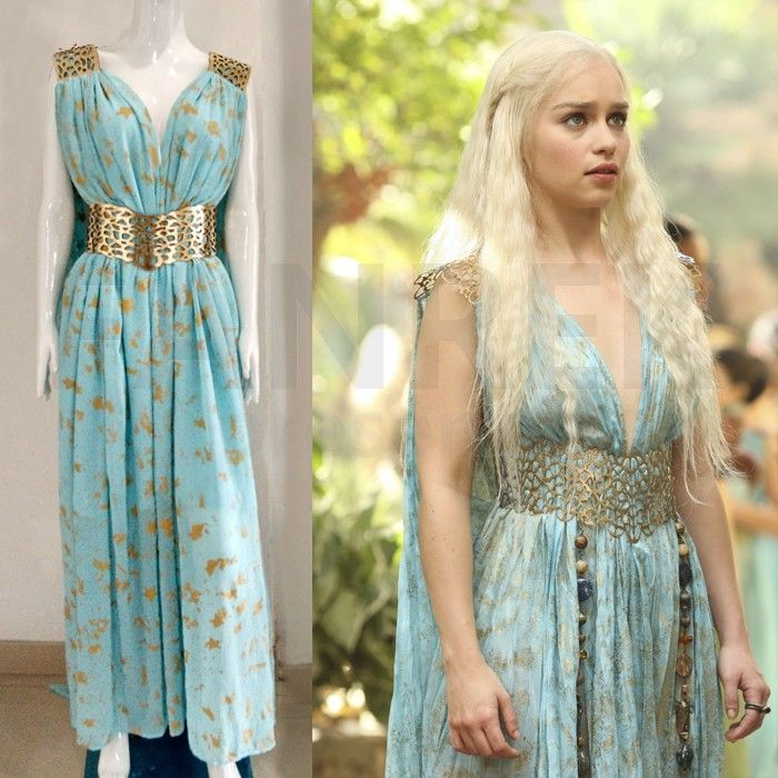1fefe3f47d4ce6 Game of Thrones Cosplay Daenerys Targaryen Qarth Dress Costumes ...