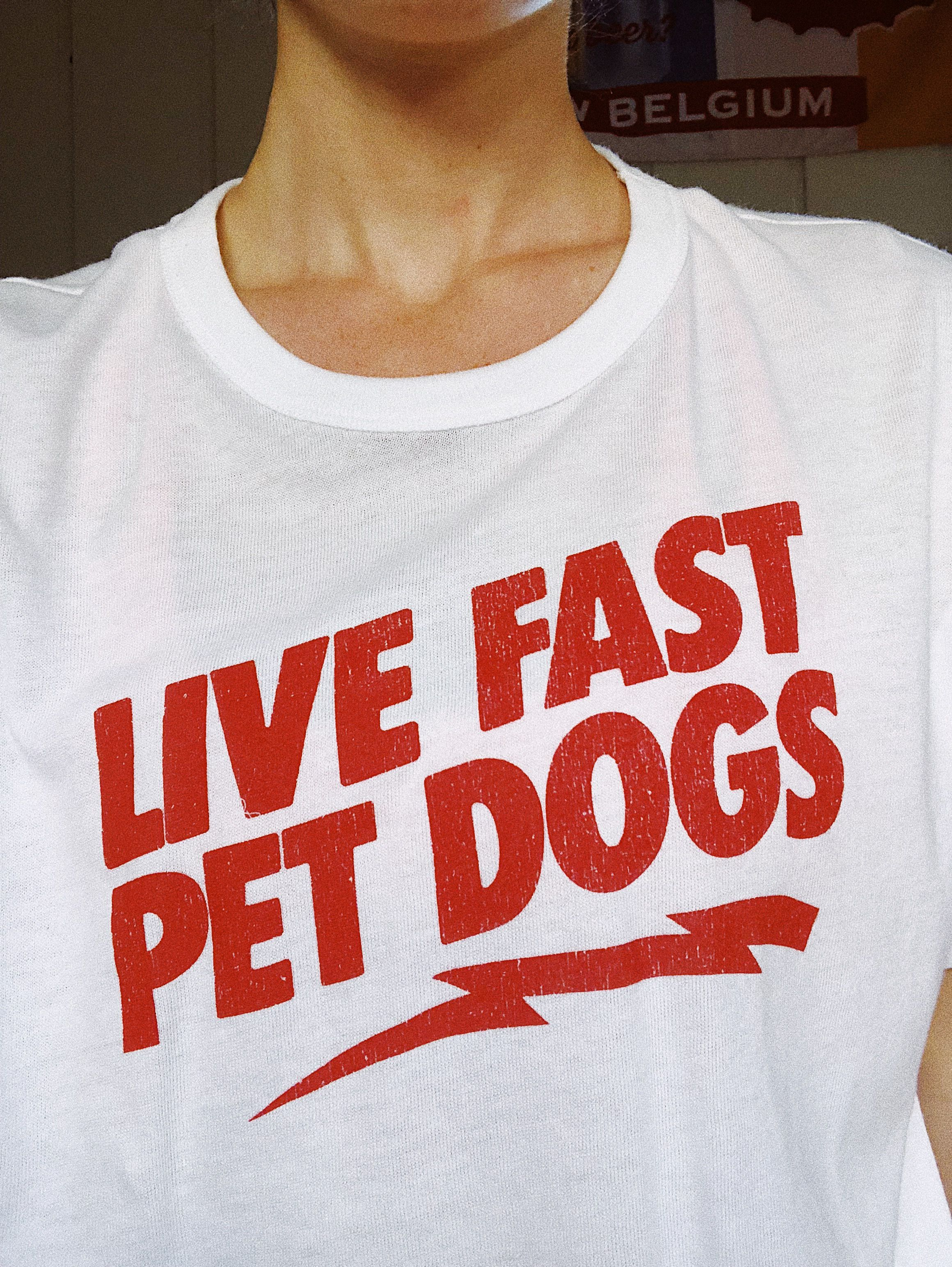 e04ab118b08c Live fast, pet dogs vintage inspired graphic t-shirt #graphictee #dogs  #vintage