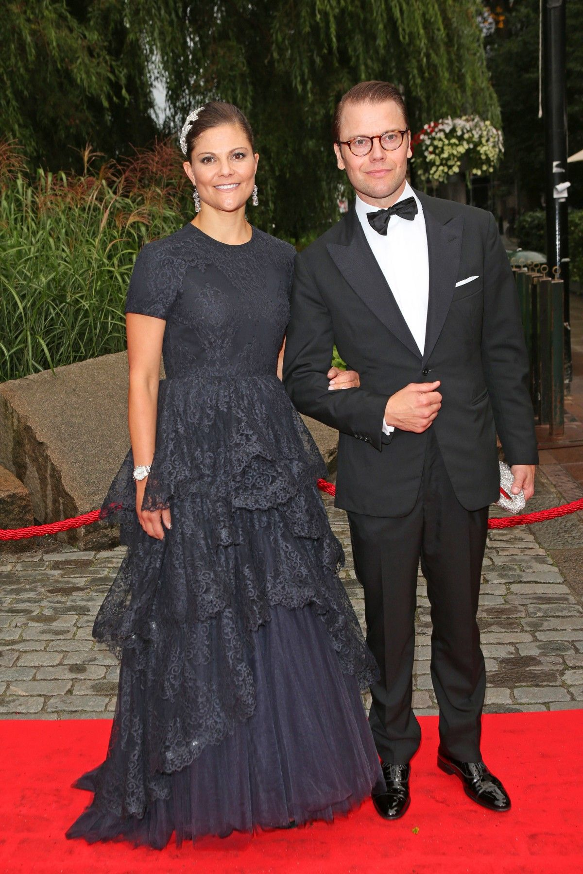 Crown Princess Victoria and Prince Daniel arrive at Berns