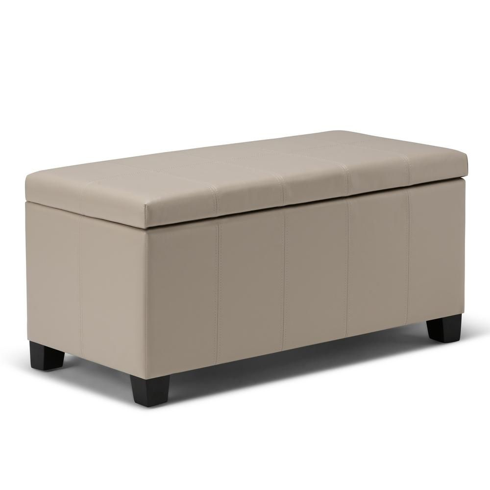 Fine Simpli Home Dover 36 In Contemporary Storage Ottoman In Theyellowbook Wood Chair Design Ideas Theyellowbookinfo