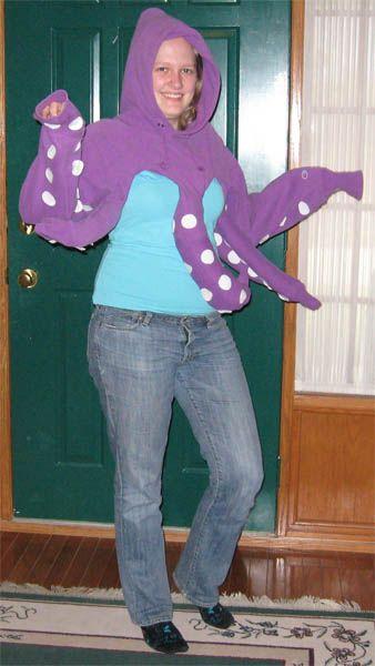 Homemade Hoodie Octopus Costume Costume Themes Octopus Costume