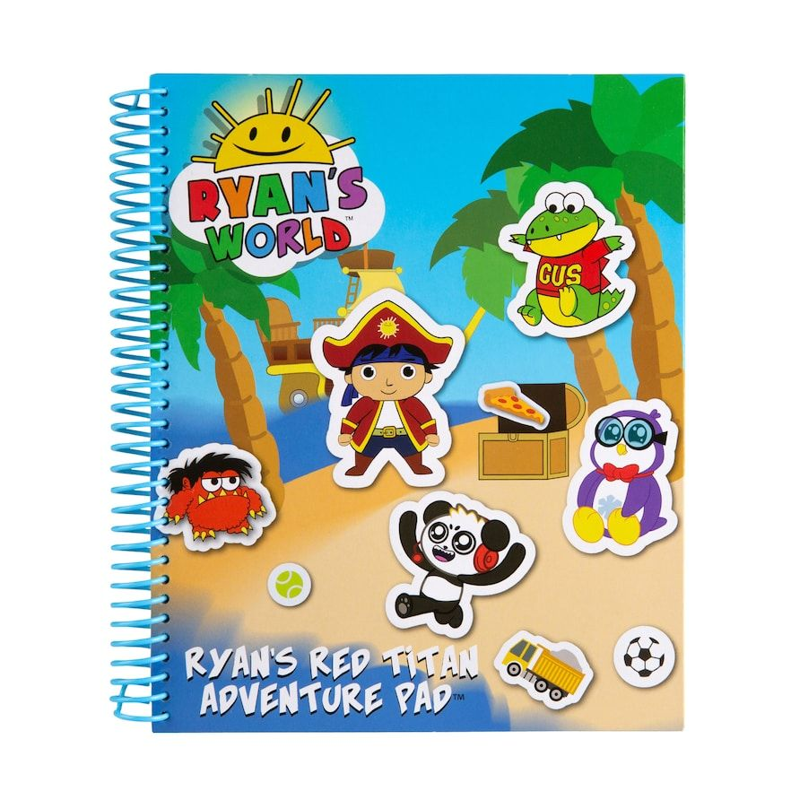 Ryan S World Red Titan Adventure Pad Ryan Toys Themed Stickers Mermaid Tails For Kids