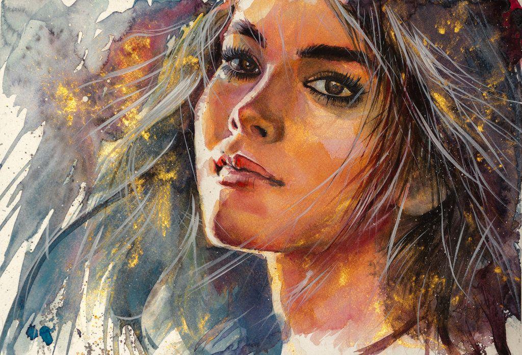 Girl in gold by kovacsannabrigitta.deviantart.com on @deviantART