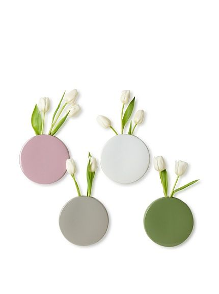 Chive Set of 4 Wall Dot Vases