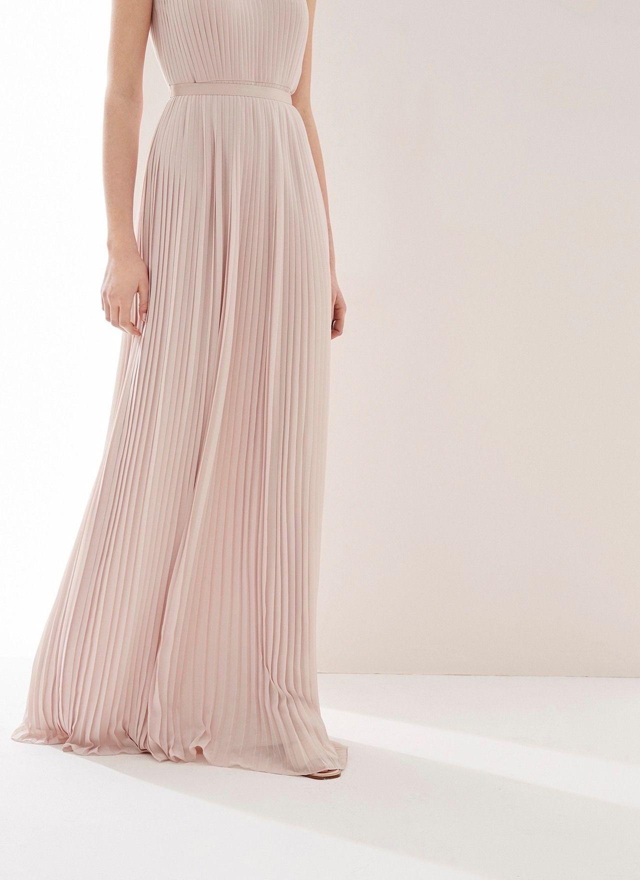 Vestido largo plisado - Vestidos | Adolfo Dominguez shop online ...