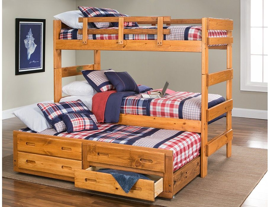 driftwood collection honey bunk bed w trundle on Slumberland Bunk Beds id=12706