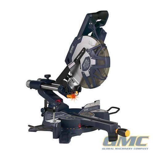 Scie radiale combinée coulissante à double inclinaison 250 mm 1800 W