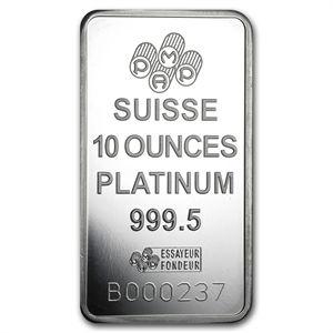 10 Oz Platinum Bar Pamp Suisse In Assay Gold Money Precious Metals Platinum Price