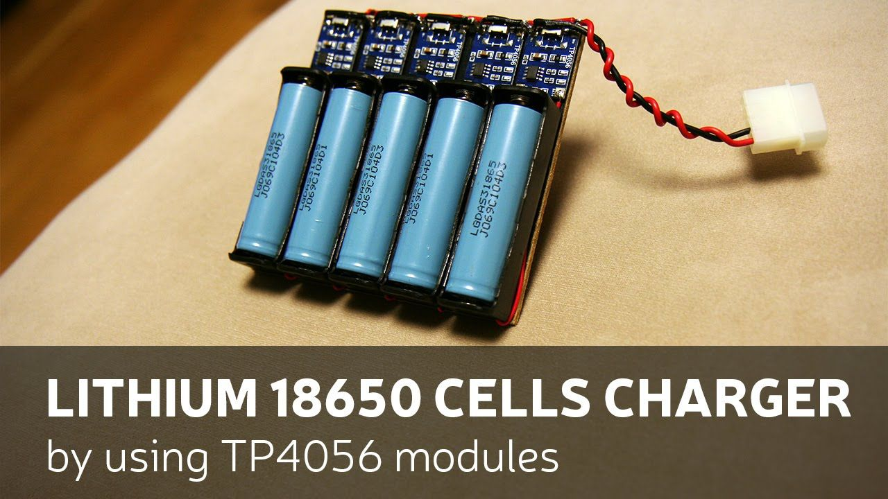 Diy Lithium 18650 Cells Charger By Using Tp4056 Modules Solar Circuits